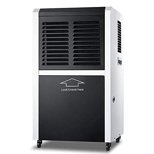 Kommerzieller Luftentfeuchter, DOROSIN 60L/D Tragbarer Elektrischer Luftentfeuchter Industrieller Lufttrockner mit Ablaufschlauch Timer für Keller Badezimmer Lager Wohnung, Raumgröße ca. 120m²/360m³