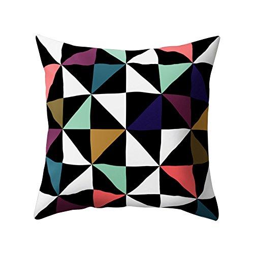 PU Ran Geometrische Muster werfen Kissen Fall Schlafsofa Home Decor Kissenbezug 4# (Pu-schlafsofa)