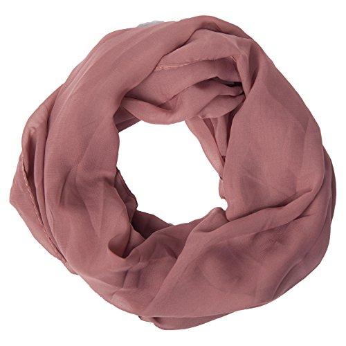 MANUMAR Loop-Schal für Damen einfarbig | feines Hals-Tuch in Braun als perfektes Frühling Sommer Accessoire | Schlauch-Schal | Damen-Schal | Rund-Schal | Geschenkidee für Frauen und Mädchen (Kinder Infinity-schals)