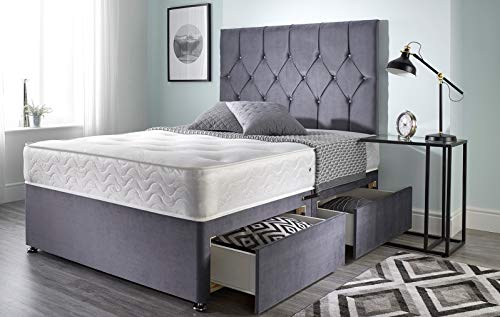 Bed Centre Ziggy Grey Plush Memo...