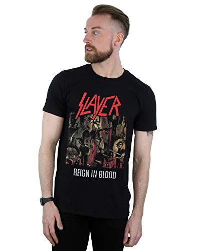 Slayer Hombre Reign In Blood Camiseta Negro XX-Large