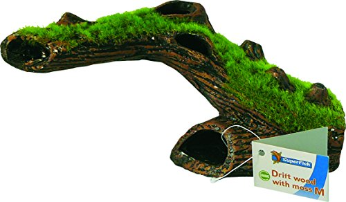 SF Keramik Baumstamm mit Moos und Höhle Gr. M Aquarium Baumstamm Mit Wurzeln
