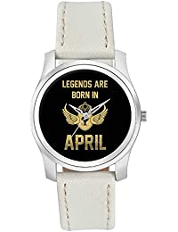 BigOwl Legends Are Born In April Birthday Gift For Him Fashion Watches For Girls - Awesome Gift For Daughter/Sister...