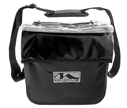 M WAVE QUEBEC   BOLSA IMPERMEABLE PARA EL MANILLAR  COLOR NEGRO MATE