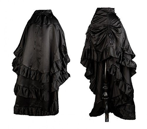Unbekannt Dark Dreams Gothic Steampunk Vampir Burlesque Neo Victorian Satin Bustle Skirt Rock 38 40 42 44 46 Vampire, - Bustle Skirt Kostüm