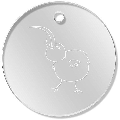 11 x 34mm 'Glücklicher Kiwi-Vogel' Klare Anhänger / Schmuckanhänger (PN00025756) (Kiwi-vogel-anhänger)