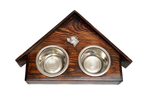 Artikelbild: Staffordshire-Bullterrier, Eine Hundeschale mit einem Relief von ArtDog