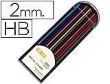Liderpapel ML02 - Pack de 12 minas, 2 mm, multicolor