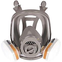 Masque à gaz facial complet avec respirateur 7en 1anti-buée 6800fonction peinture pulvérisation 2en 1