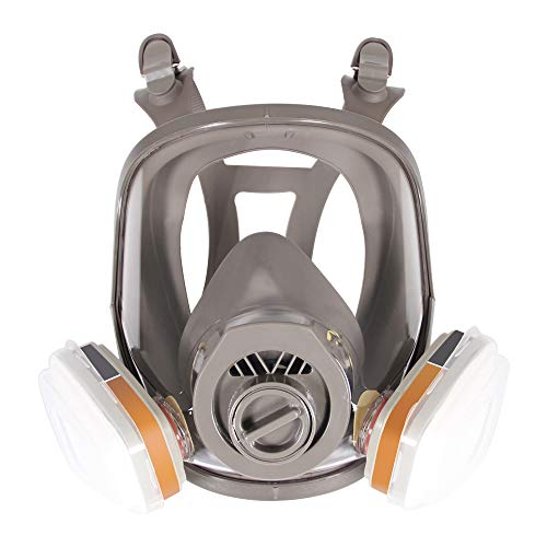 Anti-fog 6800 Vollmaske Respirator Gasmaske Malerei Maske 2 in 1 Funktion Staub Chemische Maske, Filter Enthalten, 5 Pcs Objektivabdeckung für Jetzt -