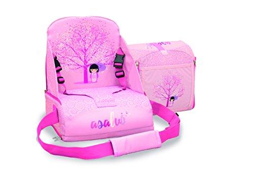 Asalvo 14016 - Trona de viaje, diseño flor de cerezo, color rosa