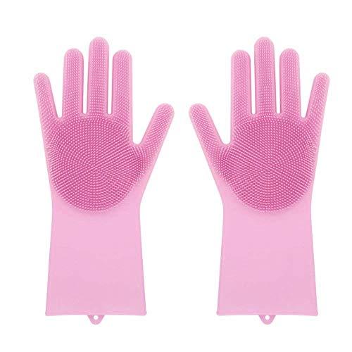 Tonsee Magische Wiederverwendbare Silikon Handschuh Reinigungsbürste Hitzebeständig, Wäscher...