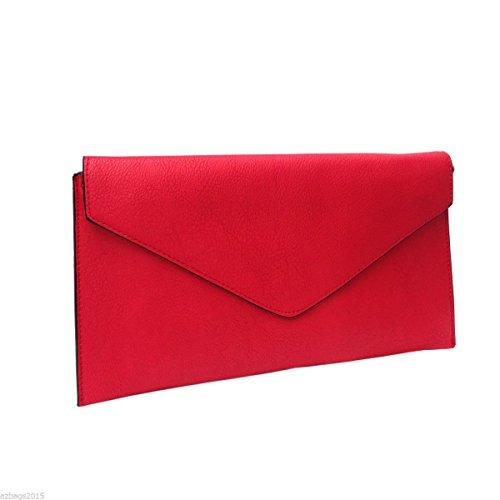 Craze London, Poschette giorno donna Beige Beige.. Red.