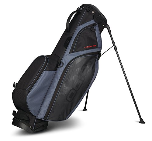 Ogio 2018 Cirrus Mo Sac de golf avec support, CIRRUS STAND MB BAG, Soot Black