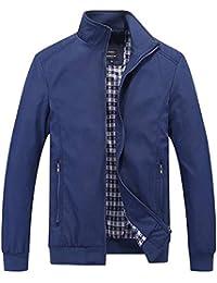 Huixin Giacche Casual Leggero da Uomo Cappotto Ragazzo Cappotto con Zip  Bomber Classico Giacche A Vento Colletto A Maniche Lunghe… 278aa0222ab