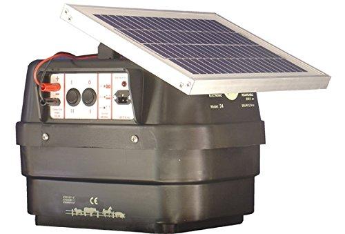 PASTOR ELÉCTRICO LLAMPEC SOLAR MODELO 24S CARACTERÍSTICAS TÉCNICAS Energía de impulsos máx. 6.000 mJuls Tensión impulsos cresta 9.500 V. Alcance 35 Km. Consumo normal 45 mA. Consumo rápido 95 mA. Panel solar 12V.5 W. (incluido) Batería 12 V. 12 Ah. (...