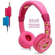 Auriculares para Niños, EasySMX Headphone Niños con Volumen Limitado de 85dB, Separador de 3.5