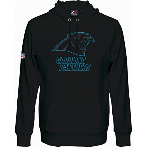 NFL Football Hoody/Kaputzenpullover CAROLINA PANTHERS Up&Over in S (SMALL)
