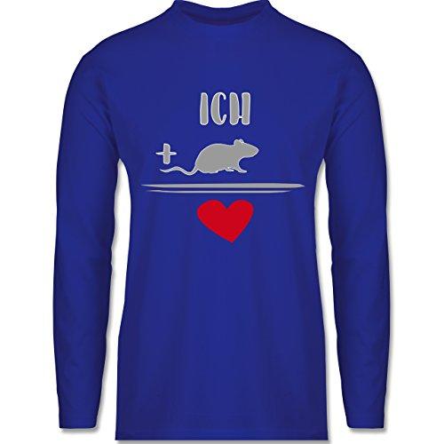 Statement Shirts - Ratten-Liebe - Longsleeve / langärmeliges T-Shirt für Herren Royalblau