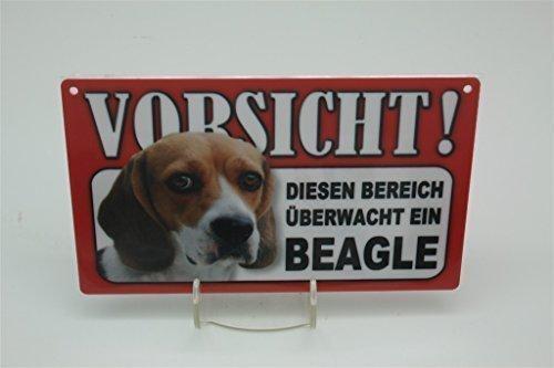 BEAGLE - Tierwarnschild - VORSICHT Tier Warnschild 20x12 cm Hund Hunde Schild 4