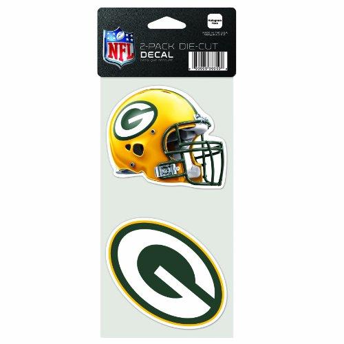 Wincraft NFL 2-teiliges gestanztes Aufkleber, 10,2 x 20,3 cm, Green Bay Packers (Packers-aufkleber Bay Green)