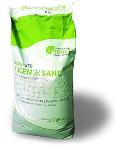 STONES ECO Fugensand 1-10 mm 15 kg/ Sack (basalt)