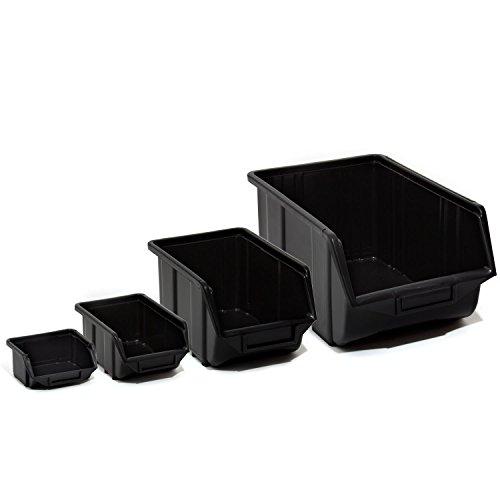 20-stapelboxen-4-groessen-mix-gr-0-3-schwarz-kunststoff-lagerboxen-lagerkaesten