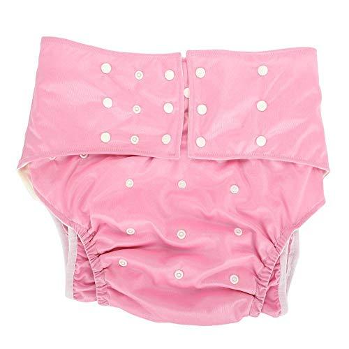 Waschbar Erwachsene Windel, Wiederverwendbare Windelhosen gegen Inkontinenz für Erwachsene, Dual Opening Pocket verstellbar leakfree, für ältere Menschen und behinderte Pflege(#3)