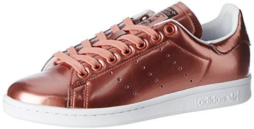 adidas Stan Smith, Baskets Basses Femme, Marron Copper Metallic/Footwear White, 39 1/3 EU