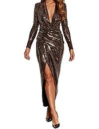 John Zack Plunge Neckline Wrapover Evening Dress Gold 8b408bcd6