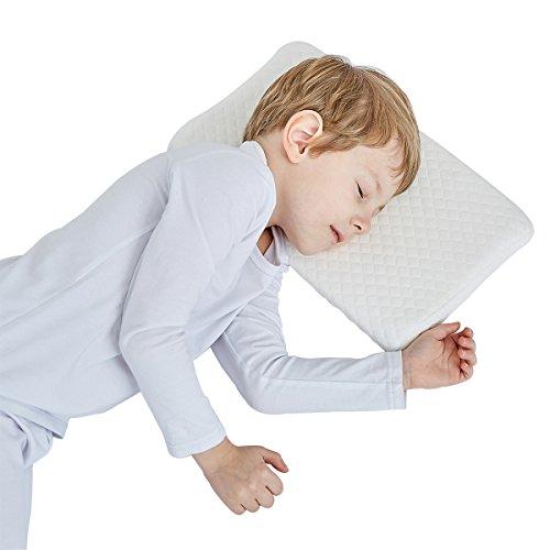 Gesundheit Kinder Kissen für Bett schlafen Hypoallergenic Neck-Protector für Kinder Extra Geschenk Bio-Baumwolle (2-5 Jahre)