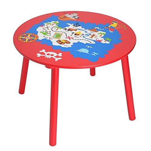 La Chaise Longue 33-1E-018 - Table Enfant Pirate Rouge et Bois La chaise longue - Multicolore