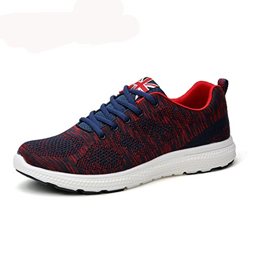Men's Breathable Lightweight Gym Training Shoes Black Red