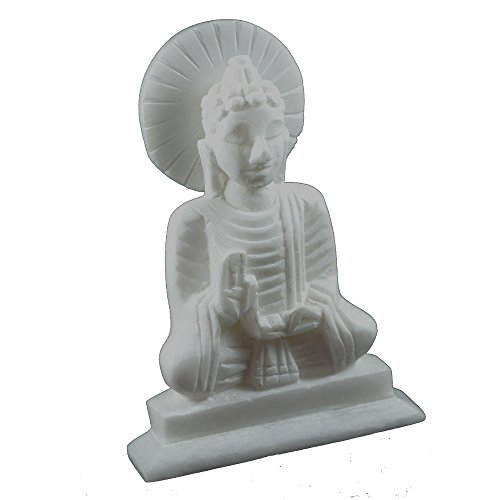 Craftuno Handcrafted Marble Buddha