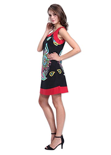 Coton Du Monde - Robe MARLA Noir Multicolore