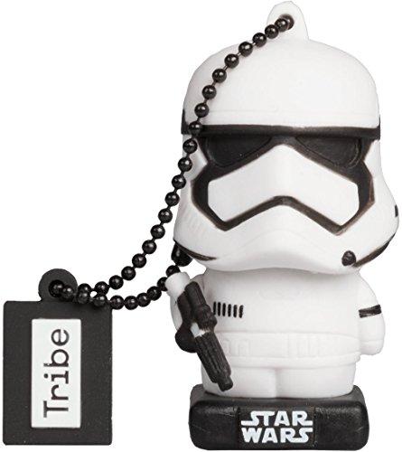 Tribe Star Wars 8 Stormtrooper USB Stick 16 GB Speicherstick 2.0 High Speed Pendrive Memory Stick Flash Drive, Lustige Geschenke 3D Figur, USB Gadget aus Hart-PVC mit Schlüsselanhänger
