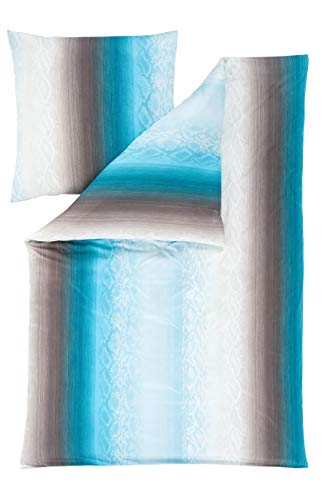 Estella Mako Interlock Jersey Bettwäsche 2 teilig Bettbezug 155 x 220 cm Kopfkissenbezug 80 x 80 cm Linnea 6537004-050 Petrol