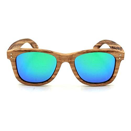 Personalisierte Holzrahmen Gläser, polarisierte Sonnenbrille Sonnenbrille Brille (Farbe : Grün)