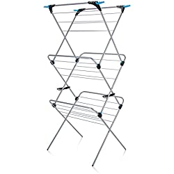 Minky 3 Tier Plus Indoor Airer, 21 m Drying Space, Silver