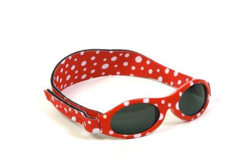 KIDZBANZ Kindersonnenbrille - DOT RED Adventure KB051 Unisex - Kinder Babybekleidung Sonnenbrillen, Gr. (2-5 Jahre), Rot