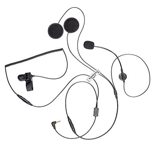 Radio Motorola Talkabout Ohrhörer für Motorrad-Helm mit Mikrofon (1Brosche. Klinke 2,5mm) the-security-store