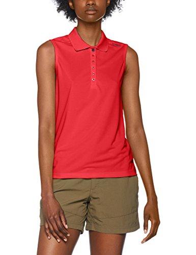 CMP Damen Polo T-Shirt, ibisco-inchiostro, 46