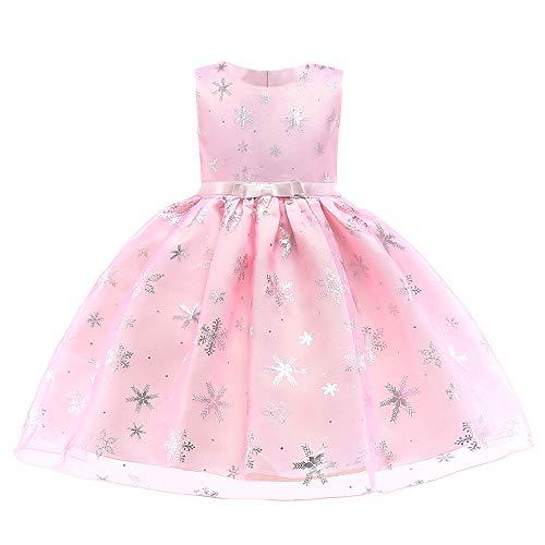 (Likecrazy Weihnachten Kleider Kinder Mädchen Schneeflocke Drucken Princess Dress Tutu Festlich Kleider Mode Babybekleidung Weihnachten Kostüme für Baby (2,110))