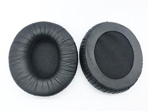 Almohadillas ovaladas de repuesto para auriculares Sennheiser HD 205, 80 mm x 75 mm, color negro
