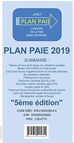 LE PLAN PAIE 2019 par  Collectif (Feuillets mobiles)