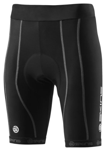 Skins Damen Kompressionsradhose Cycle PRO Womens Black/Silver Shorts, black/silver, XS (FXS) - Silver Womens Shorts