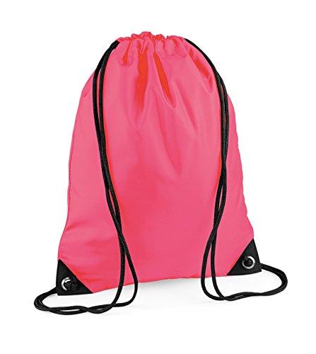 Turnbeutel bestickt mit Ihrem Wunschnamen / Wunschtext fluorescent pink