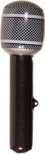 Aufblasbare Mikrofone - KULTFAKTOR GmbH Aufblasbares Mikrofon schwarz-grau 30cm