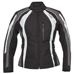 Roleff Racewear 9804 Blouson Moto Venise pour Femmes, Noir/Gris/Blanc, L