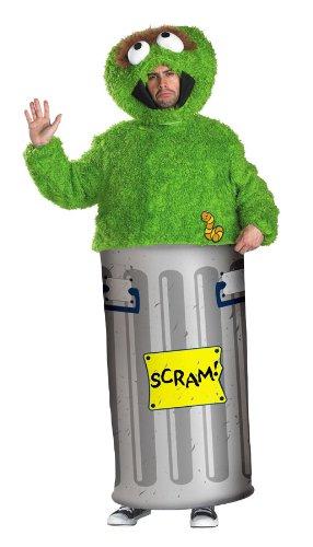 Sesamstrasse Oscar Kostüm M (Mülltonnen Kostüm)